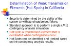 determination of weak transmission elements hot spots in california