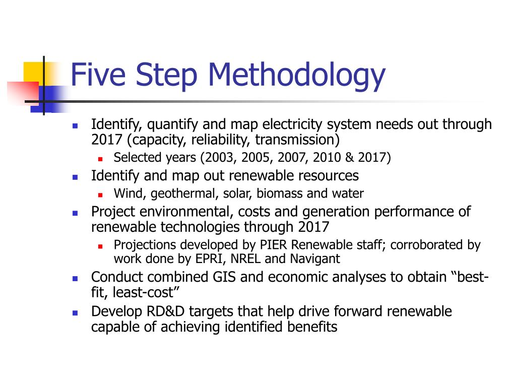 Five Step Methodology
