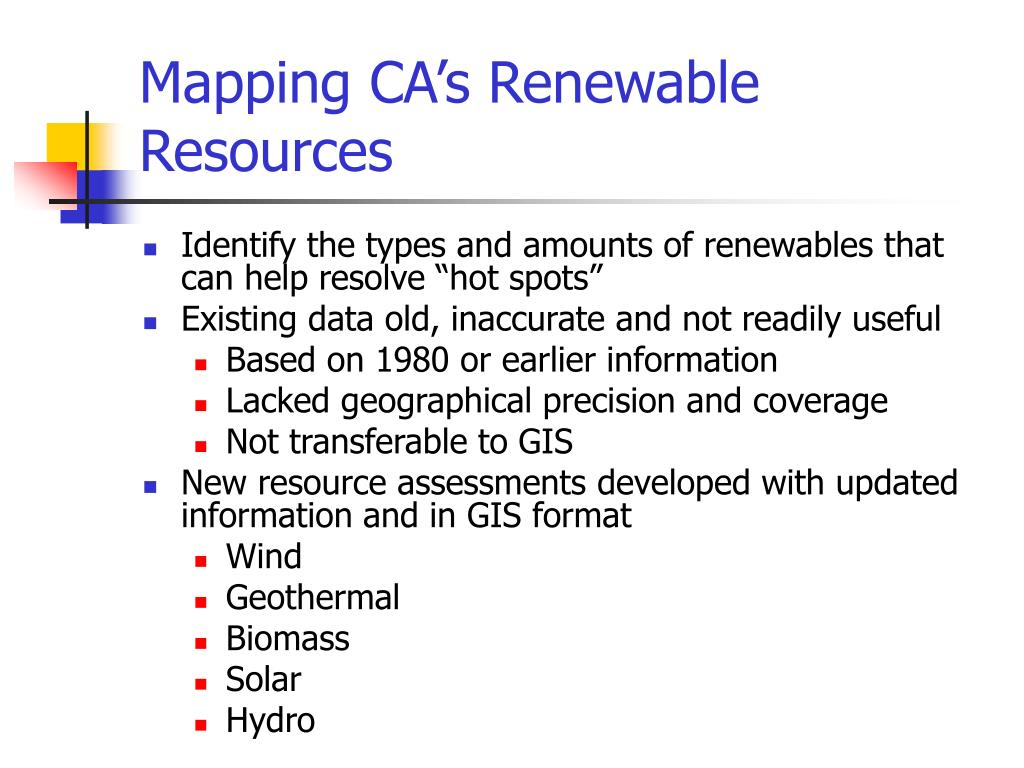 Mapping CA's Renewable Resources