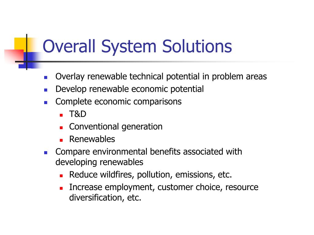 Overall System Solutions