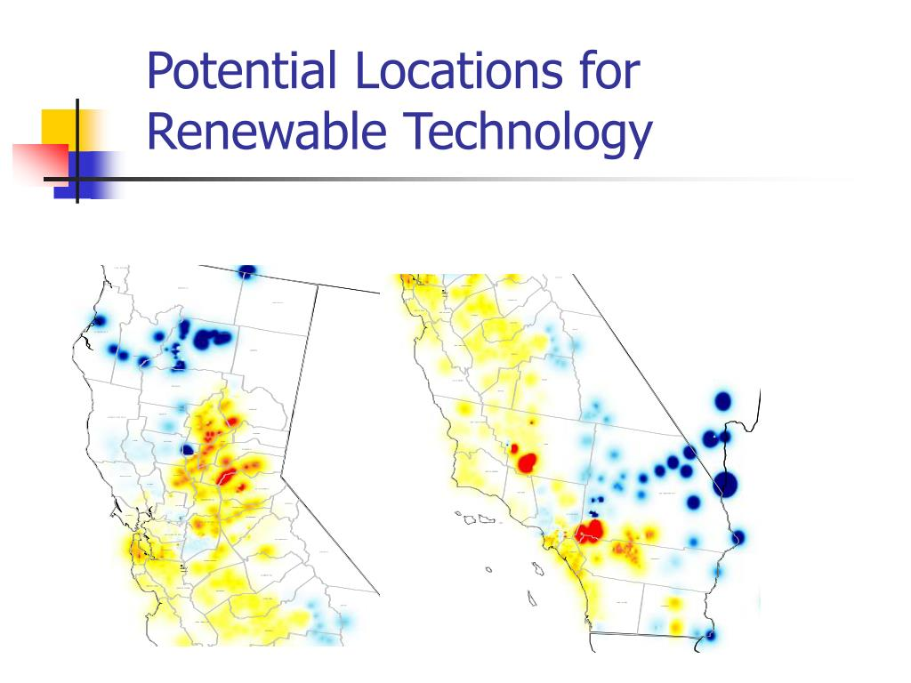 Potential Locations for Renewable Technology
