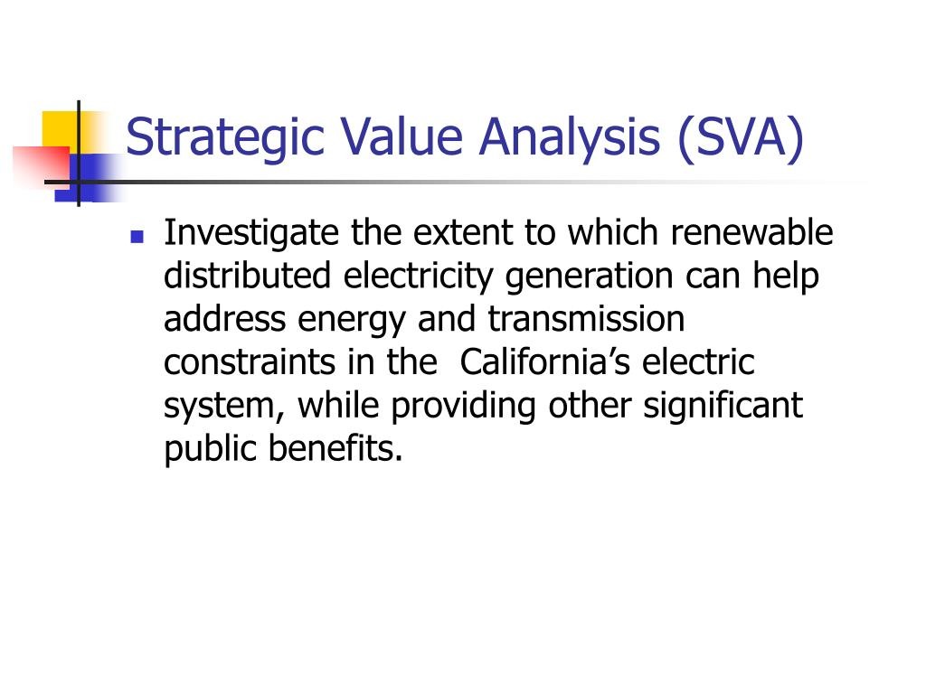 Strategic Value Analysis (SVA)