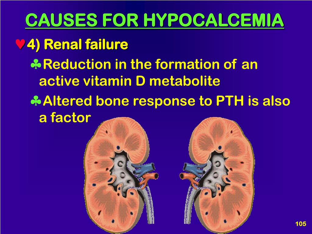 CAUSES FOR HYPOCALCEMIA
