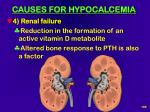 causes for hypocalcemia105