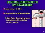 general response to hyponatremia