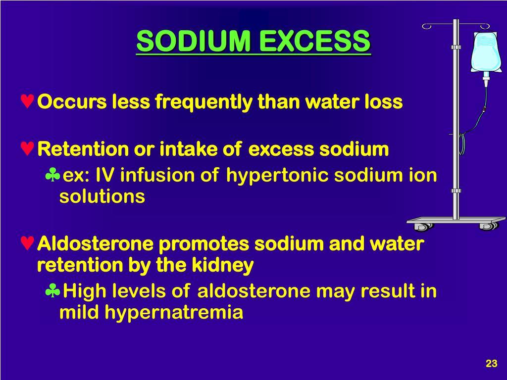 SODIUM EXCESS