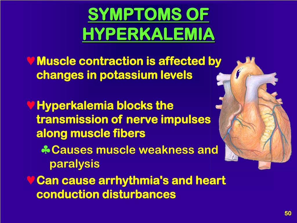 SYMPTOMS OF HYPERKALEMIA