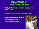 treatment of hypernatremia
