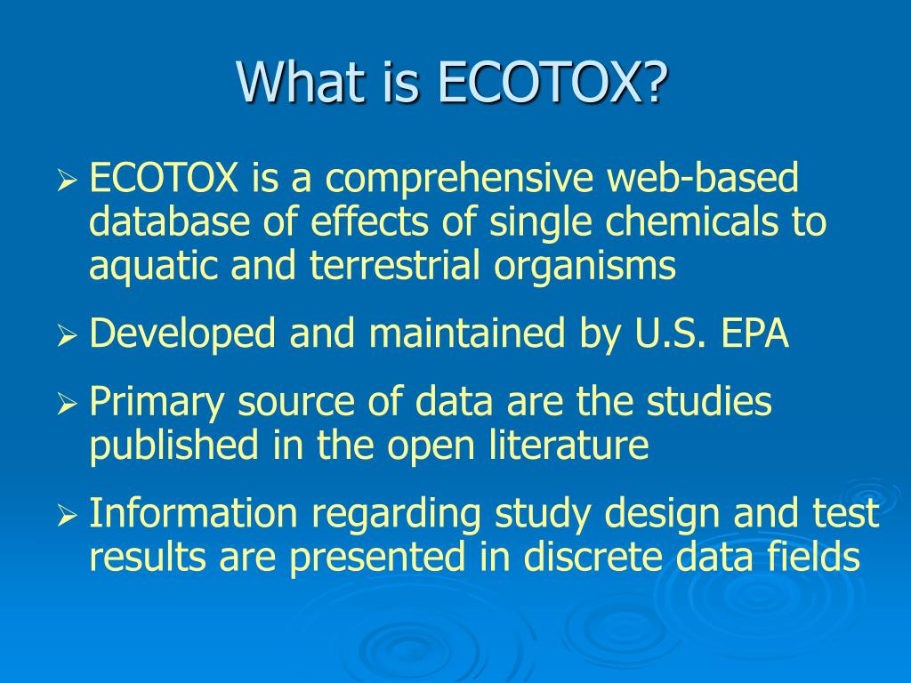 What is ECOTOX?