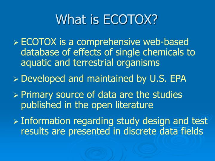 What is ecotox