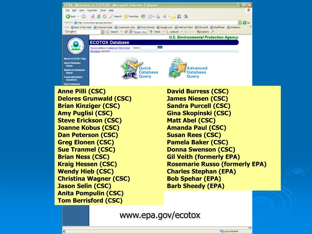 www.epa.gov/ecotox