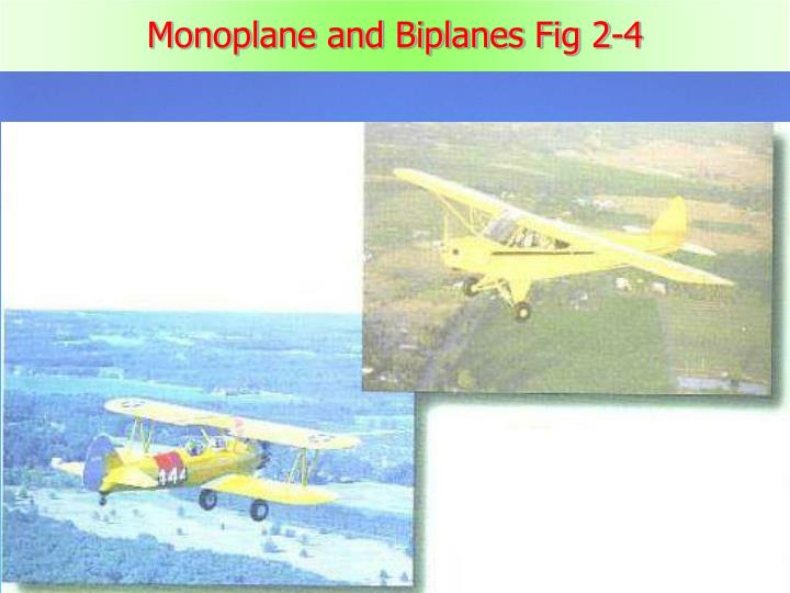 Monoplane and Biplanes Fig 2-4