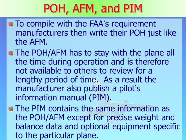 POH, AFM, and PIM