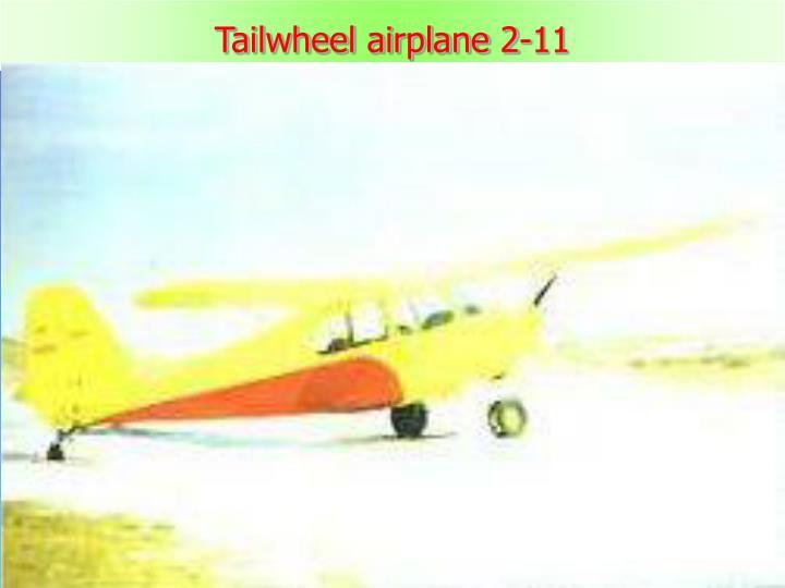 Tailwheel airplane 2-11