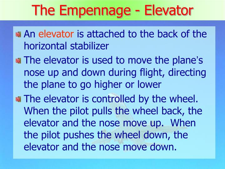 The Empennage - Elevator