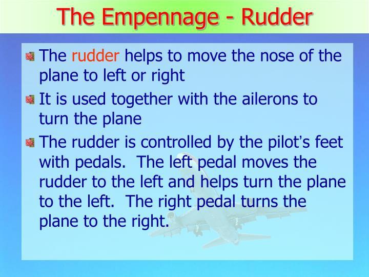 The Empennage - Rudder