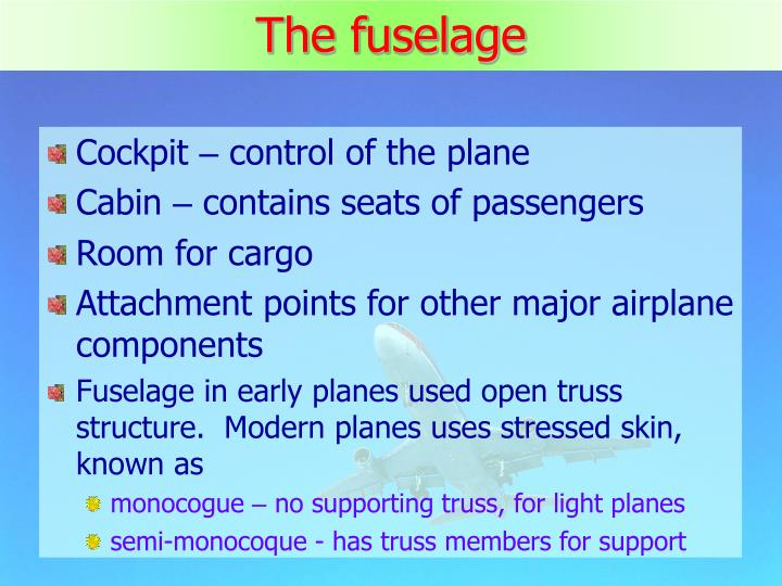 The fuselage