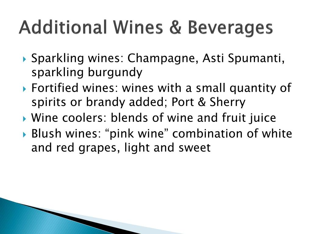 Additional Wines & Beverages
