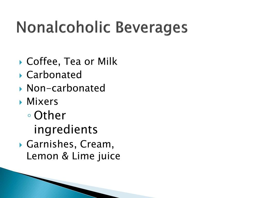 Nonalcoholic Beverages