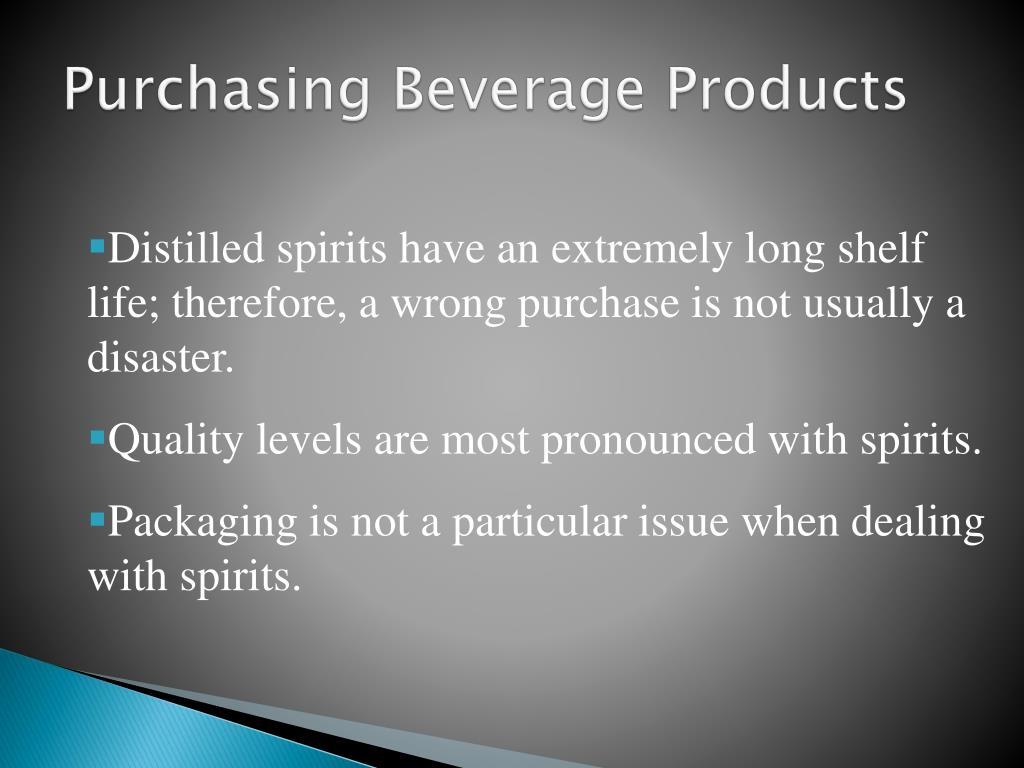 Purchasing Beverage Products