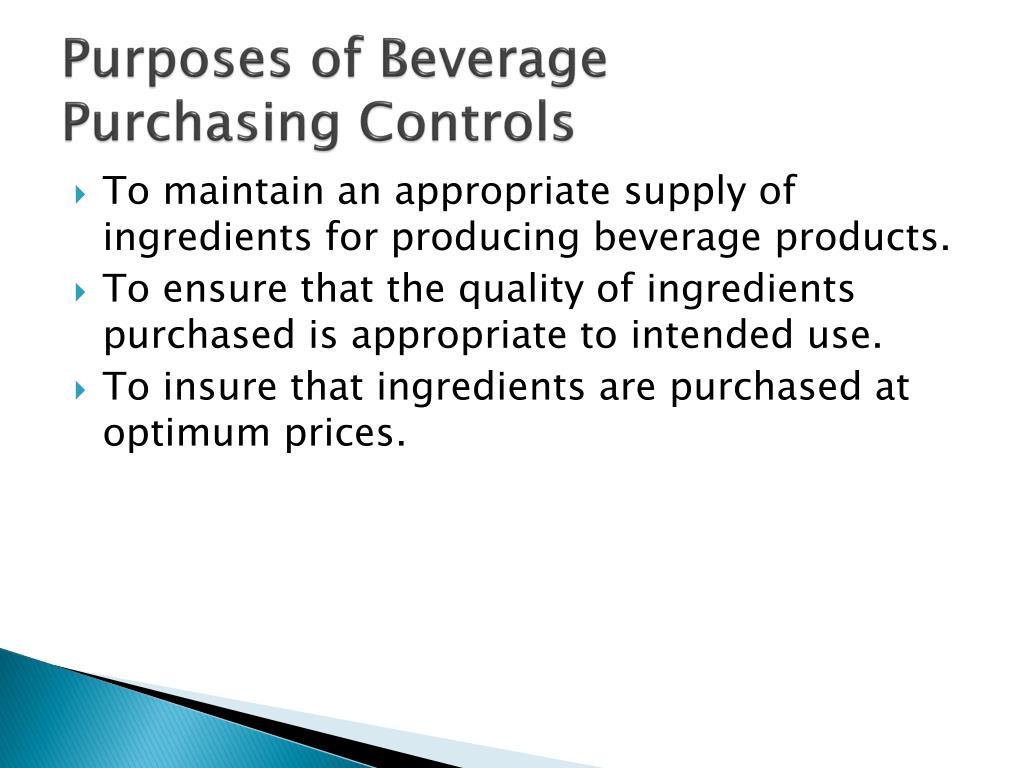 Purposes of Beverage