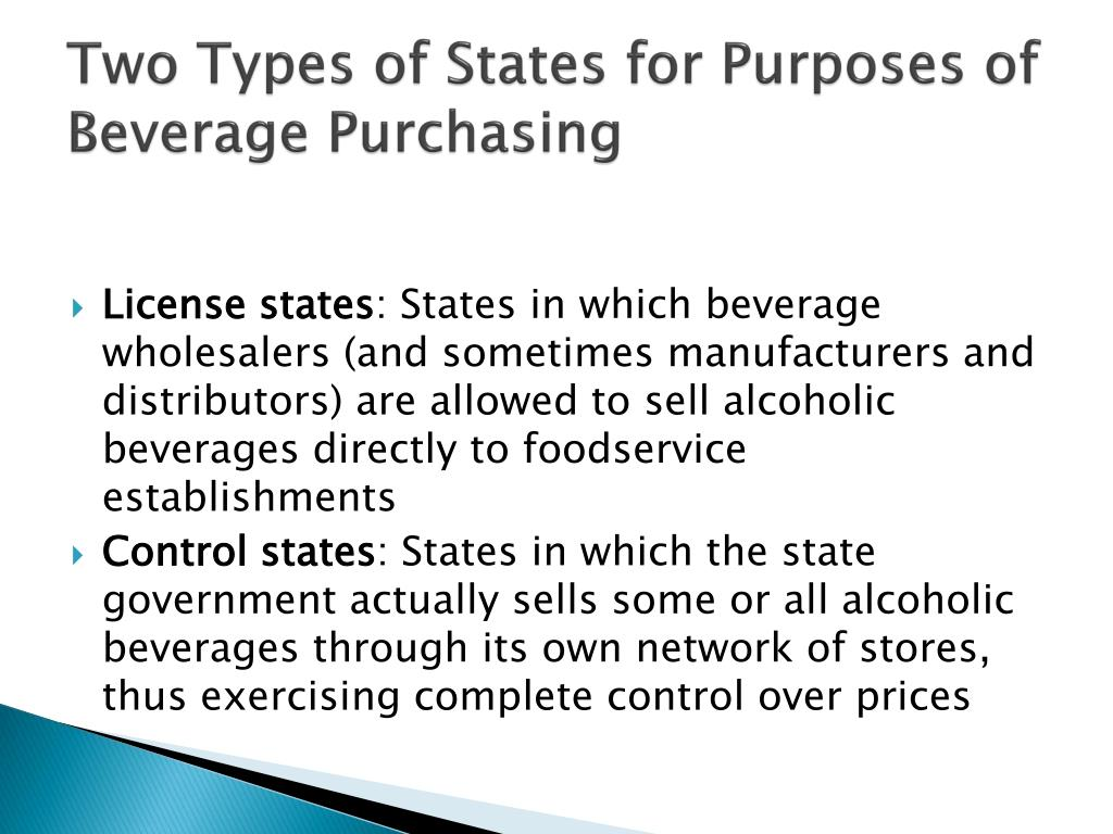 Two Types of States for Purposes of Beverage Purchasing