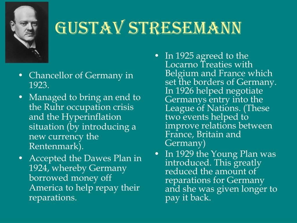 Chancellor of Germany in 1923.