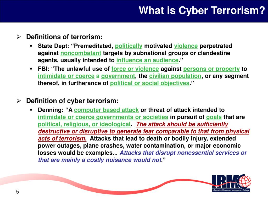What is Cyber Terrorism?