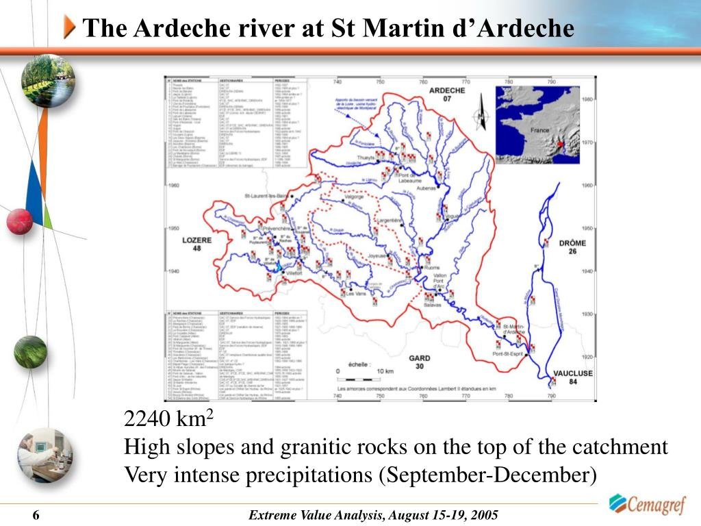 The Ardeche river at St Martin d'Ardeche