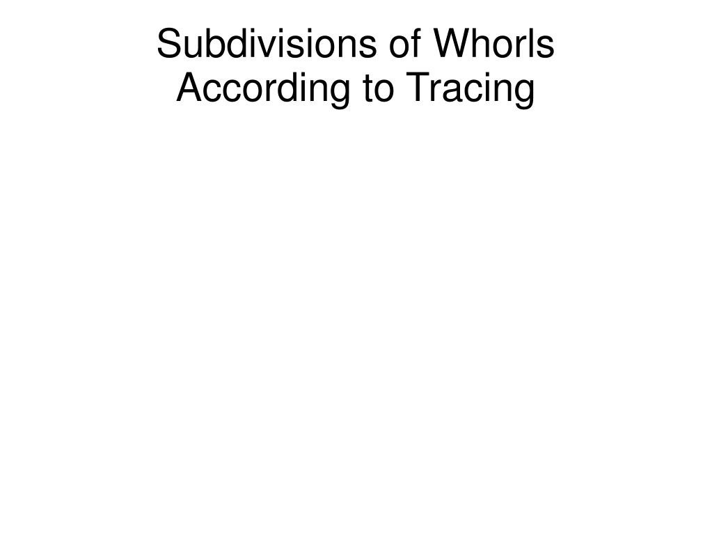 Subdivisions of Whorls