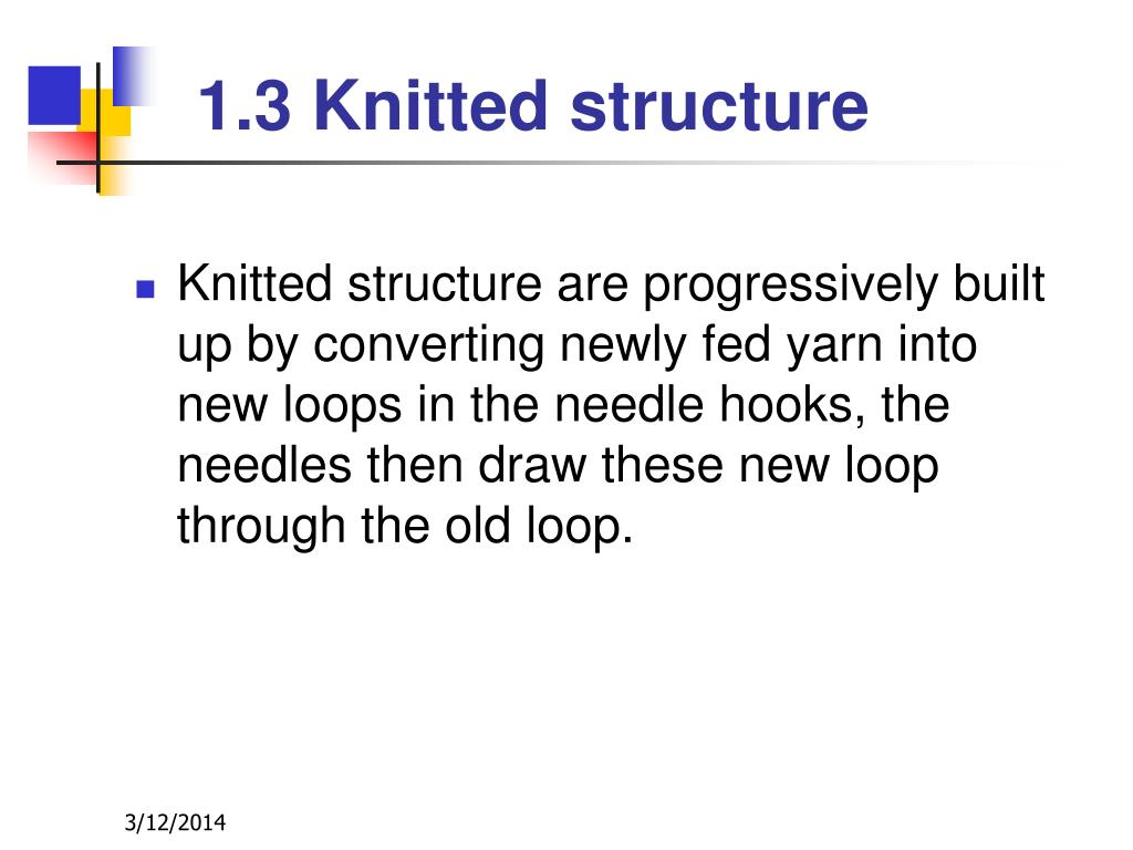 Knitting Loop Structure : Ppt knitting technology powerpoint presentation id