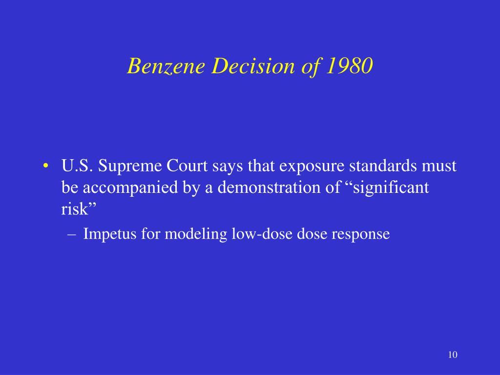 Benzene Decision of 1980