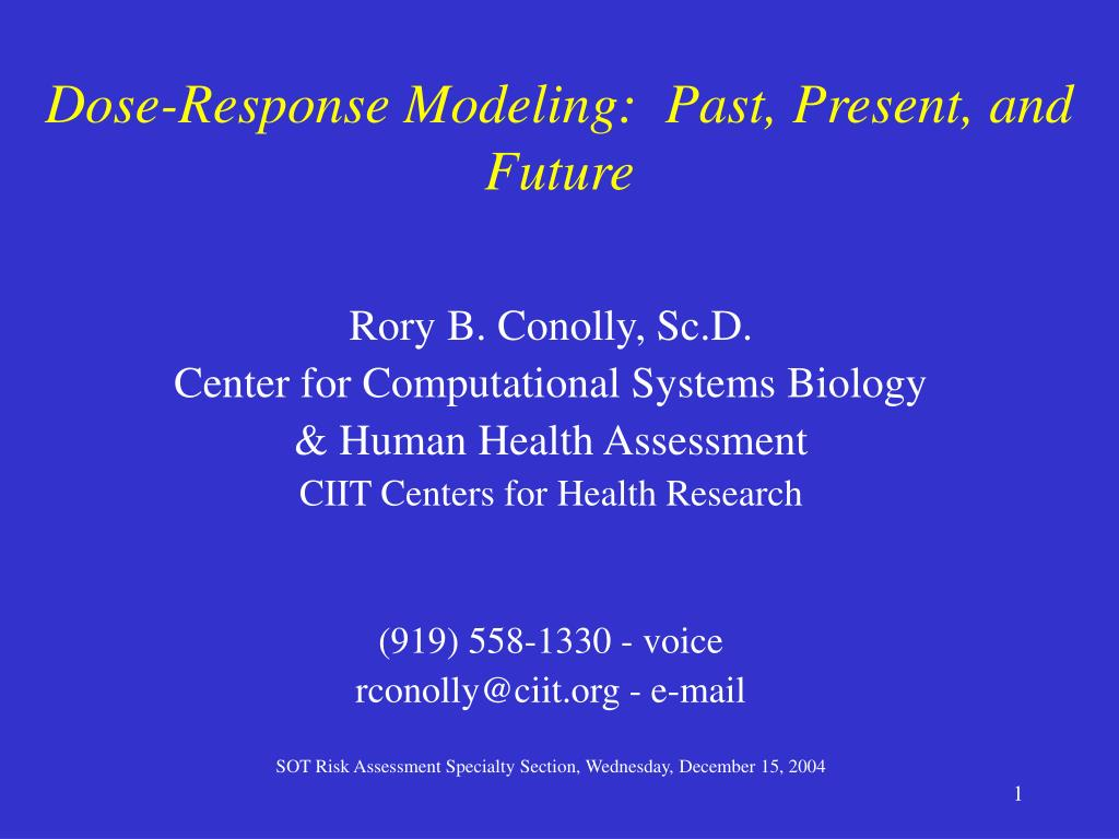 dose response modeling past present and future