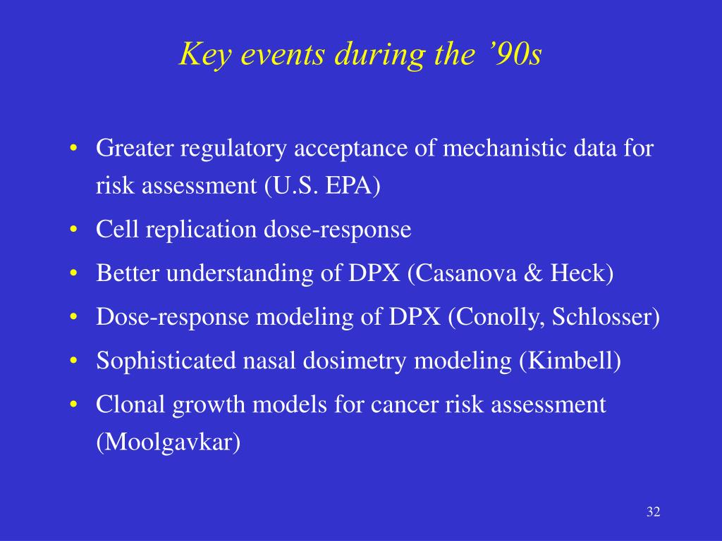 Key events during the '90s