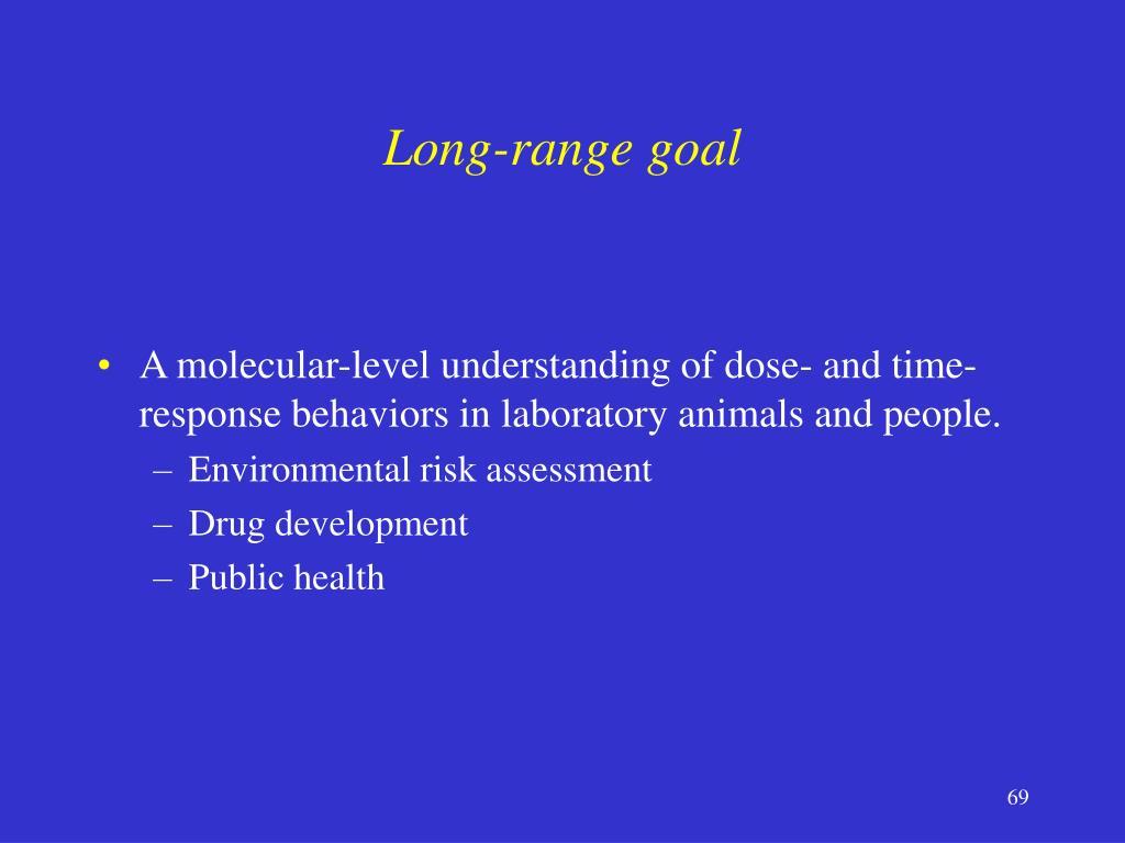 Long-range goal