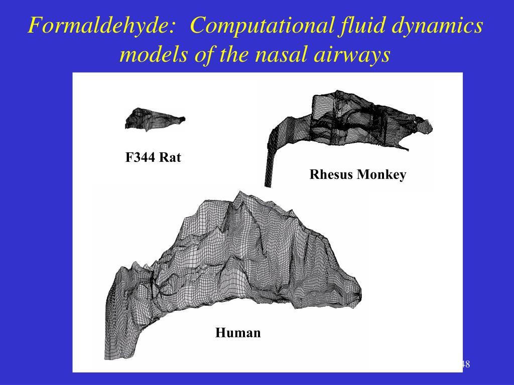 Formaldehyde:  Computational fluid dynamics models of the nasal airways
