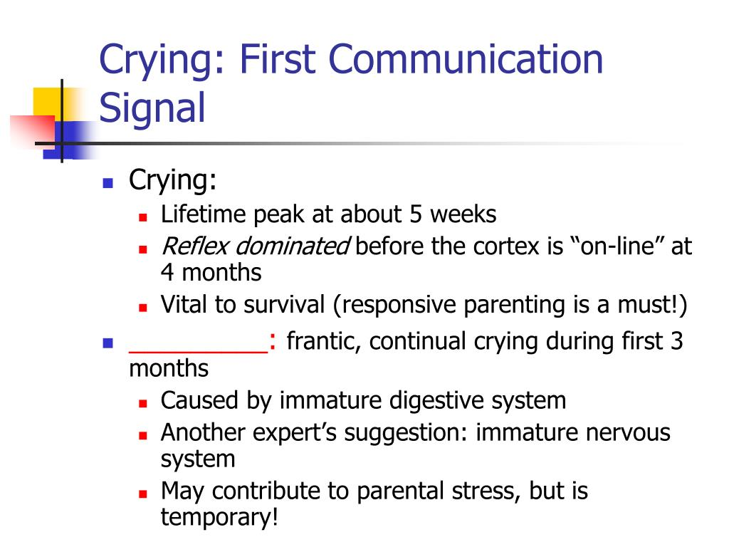 Crying: First Communication Signal