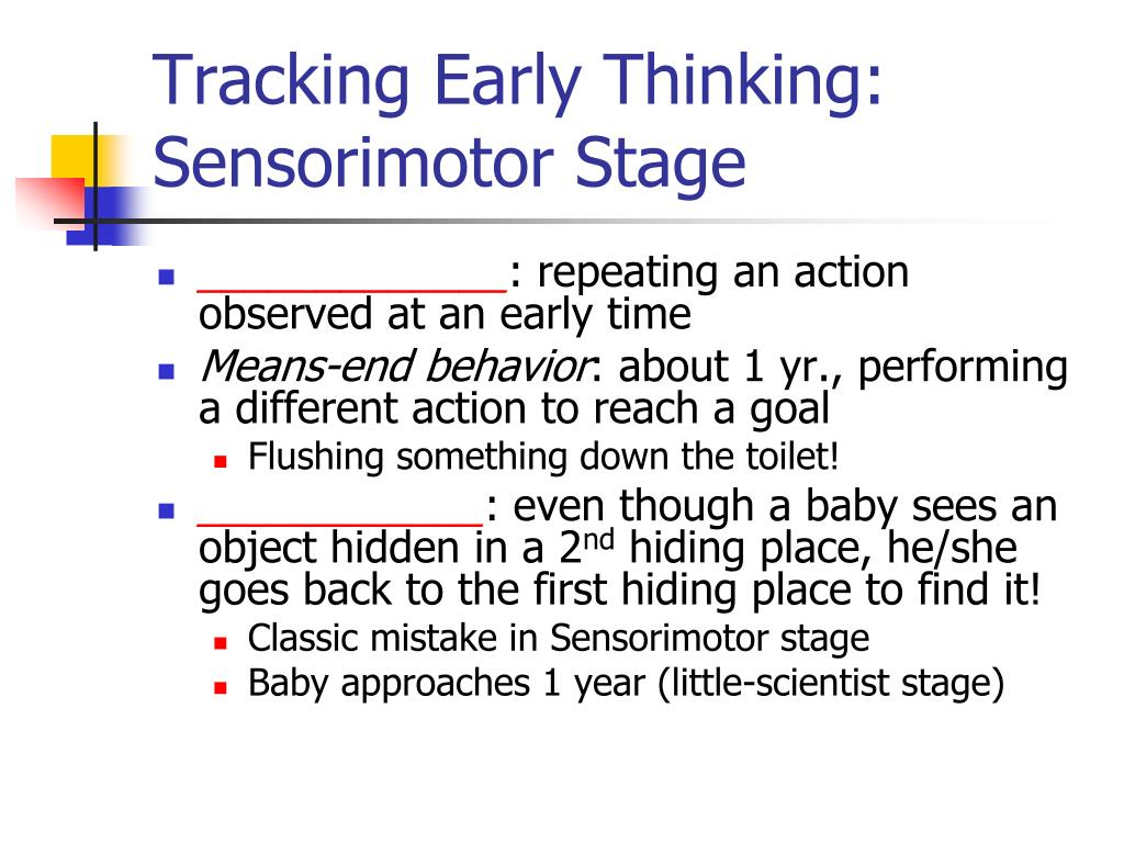 Tracking Early Thinking: Sensorimotor Stage