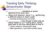 tracking early thinking sensorimotor stage