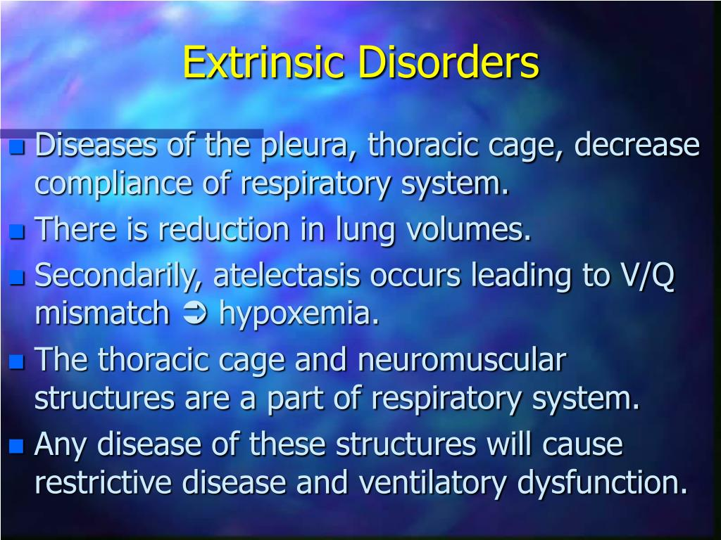 Extrinsic Disorders