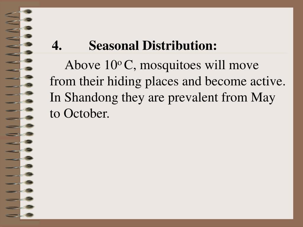 4. Seasonal Distribution: