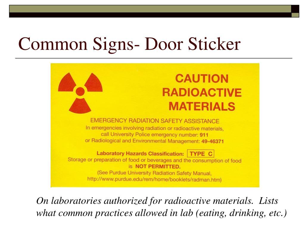 Common Signs- Door Sticker