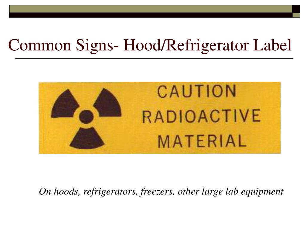 Common Signs- Hood/Refrigerator Label
