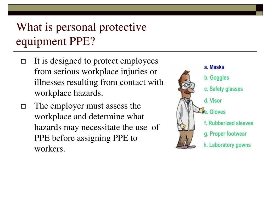 What is personal protective