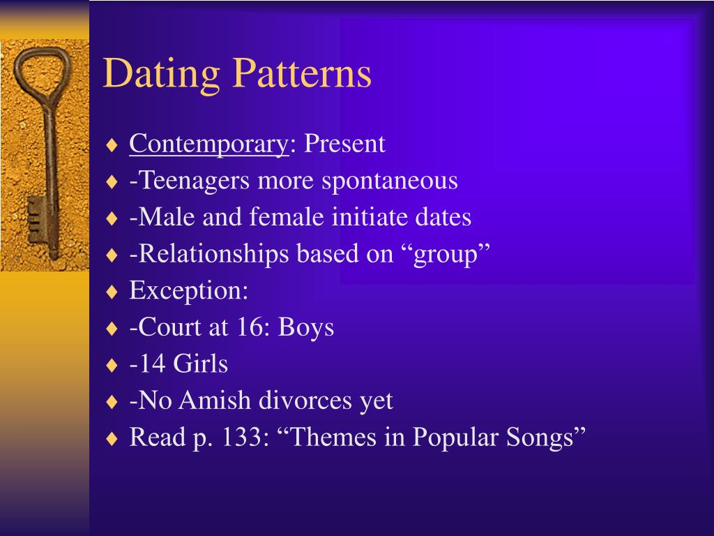 Traditional dating patterns include