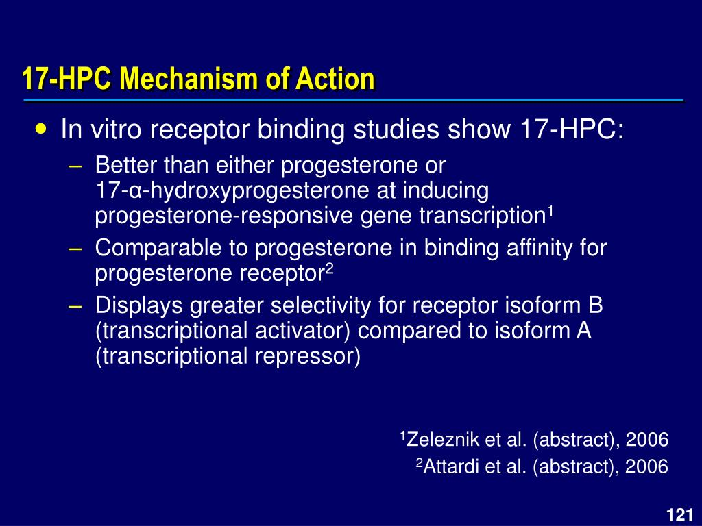 17-HPC Mechanism of Action