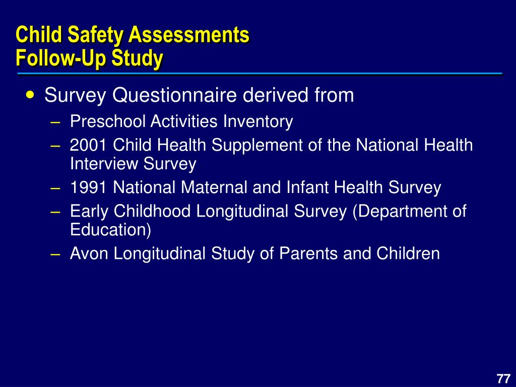Child Safety Assessments