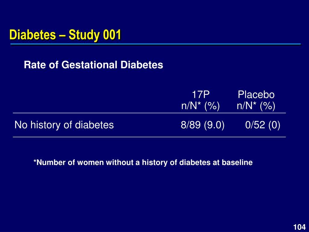 Diabetes – Study 001