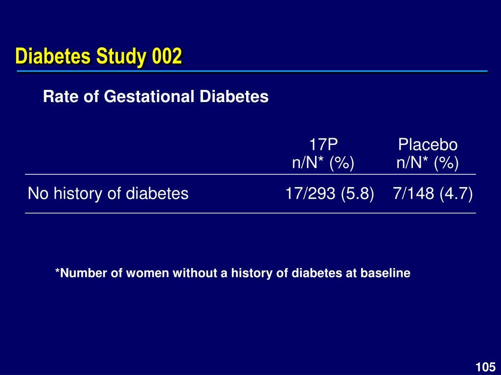 Diabetes Study 002