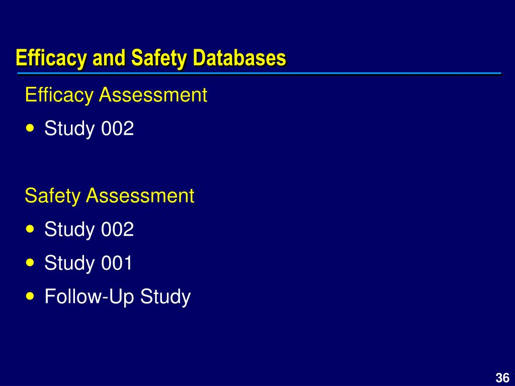 Efficacy and Safety Databases